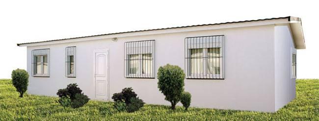 Casa prefabricada ATL 76m² gama ECO/CTE