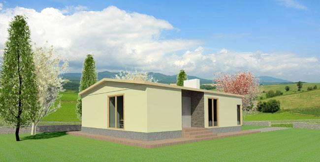 Casa prefabricada ATL 83 m² gama ECO/CTE