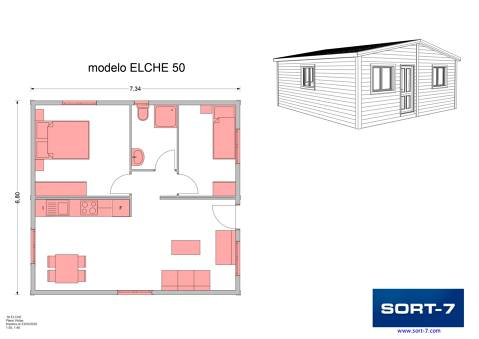 Modelo 50m² Elche
