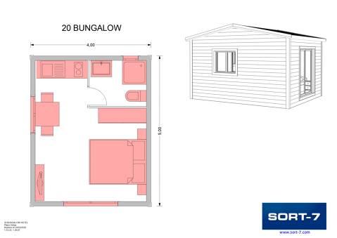 Modelo 20m² Bungalow
