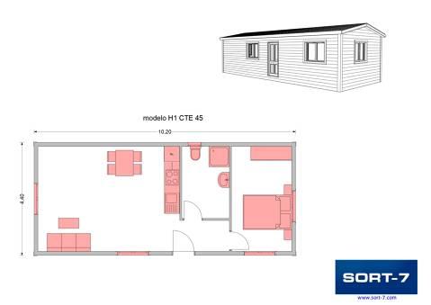 Modelo 45m² H1 CTE
