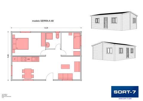 Modelo 48m² Serra A