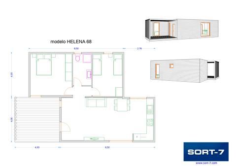 Modelo 68m² Helena