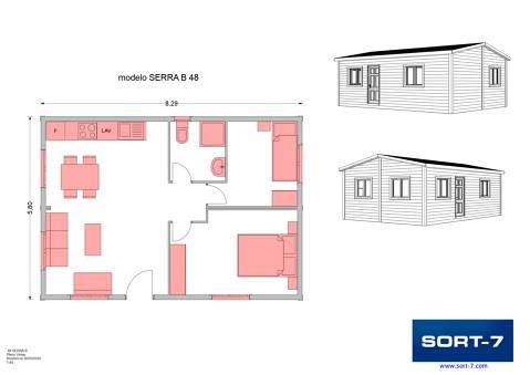 Modelo 48m² Serra B