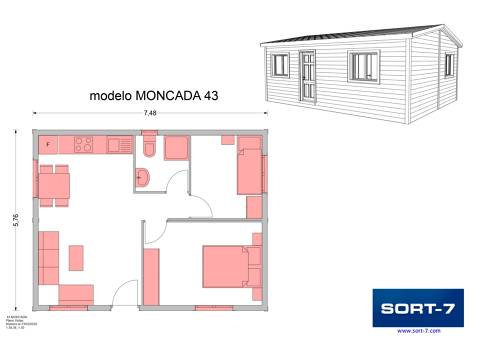 Modelo 43m² Moncada