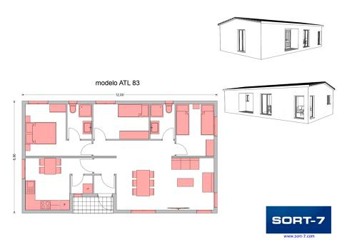 Modelo 83m² ATL