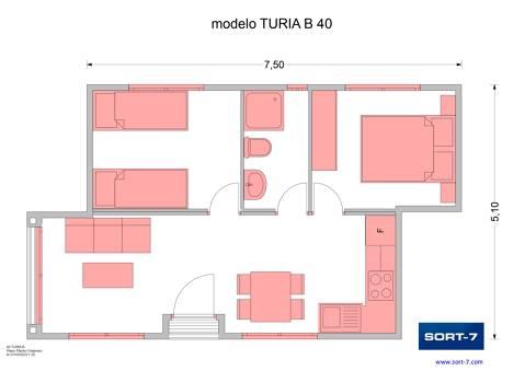 Modelo 40m² Turia B