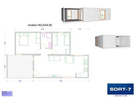 Modelo 60m² Helena