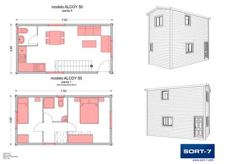 Modelo 50m² Alcoy